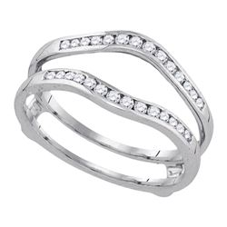 1/2 CTW Womens Round Diamond Bridal Wedding Enhancer Band Ring 14k White Gold - REF-64T8V