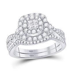 3/4 CTW Princess Diamond Bridal Wedding Ring 14kt White Gold - REF-95W5H
