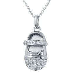 0.21 CTW Diamond Necklace 14K White Gold - REF-35Y4X