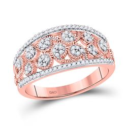 1/4 CTW Womens Round Diamond Band Ring 10kt Rose Gold - REF-27A3M