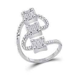 1 CTW Womens Baguette Diamond Band Ring 14kt White Gold - REF-109T2V