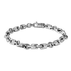 3.82 CTW Diamond Bracelet 14K White Gold - REF-375M7F