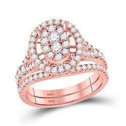 1 CTW Round Diamond Bridal Wedding Ring 14kt Rose Gold - REF-102A3M