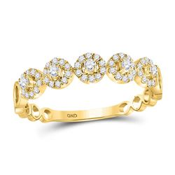 1/3 CTW Womens Round Diamond Stackable Band Ring 10kt Yellow Gold - REF-29M9F