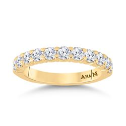 1 CTW Womens Round Diamond Single Row Band Ring 14kt Yellow Gold - REF-102T3V