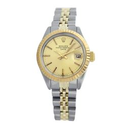 Rolex Pre-owned 26mm Womens Champagne Two Tone