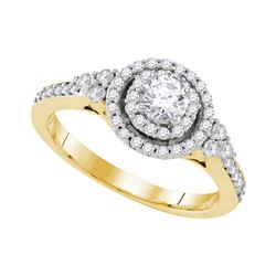 3/4 CTW Round Diamond Solitaire Bridal Wedding Engagement Ring 10kt Yellow Gold - REF-88Y5N