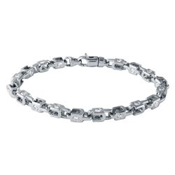 3.43 CTW Diamond Bracelet 14K White Gold - REF-364F8N