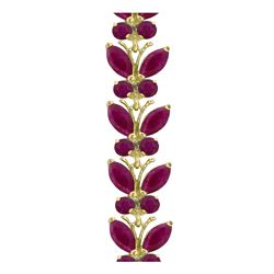 Genuine 16.5 ctw Ruby Bracelet 14KT White Gold - REF-221W3Y