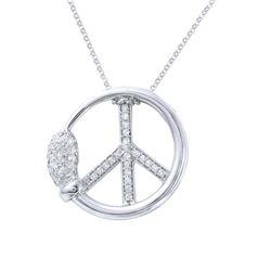 0.51 CTW Diamond Necklace 14K White Gold - REF-53Y8X