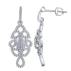0.33 CTW Diamond Earrings 14K White Gold - REF-30H7M
