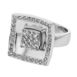 0.86 CTW Diamond Ring 14K White Gold - REF-102H9M