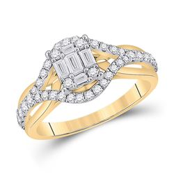 3/4 CTW Womens Baguette Diamond Fashion Ring 14kt Yellow Gold - REF-88W5H