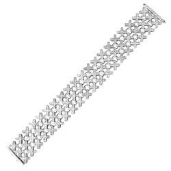 8.59 CTW Diamond Bracelet 14K White Gold - REF-527W9H