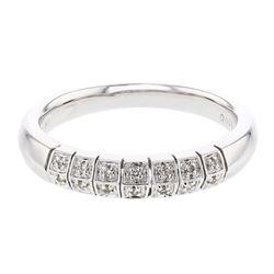 0.08 CTW Diamond Band Ring 14K White Gold - REF-31N8Y
