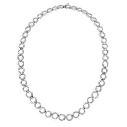 12.86 CTW Diamond Necklace 18K White Gold - REF-669K9W