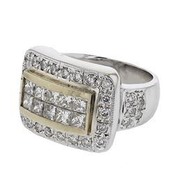 1.73 CTW Diamond Ring 18K 2Tone Gold - REF-188N5Y