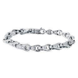 3.86 CTW Diamond Bracelet 14K White Gold - REF-471H3M