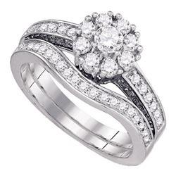1 CTW Round Diamond Bridal Wedding Ring 14kt White Gold - REF-139M8F