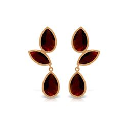 Genuine 13 ctw Garnet Earrings 14KT Rose Gold - REF-62W4Y