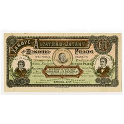 Xarope de Alcatrao E Jatahy de Honorio Prado, ca.1890-1900 Medical Advertising Note.