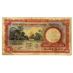 West African Currency Board. 1962. Issued Note.