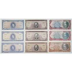 Banco Central de Chile. ND (1962-1975). Lot of 15 Issued Notes.