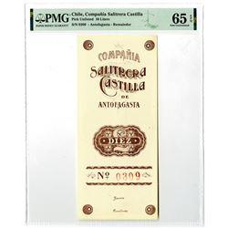 Compania Salitrera Castilla, ND (ca.1890-1920) Remainder Banknote.