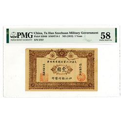 Ta Han Szechuan Military Government, ND (1912) Issue Banknote.