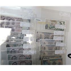 Banco de la Republica, Banco del Estado & Other Issuers. 1870s-2000s. Lot of 44 Issued Notes.