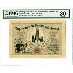 Danzig, Senate of the Municipality-Free City. 1922. Issued Banknote.