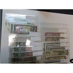Banco Central de Republica Dominicana & Banco Central de Costa Rica. 1973-2000. Lot of 32 Issued Not
