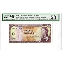 East Caribbean Currency Authority. ND (1965) Issued Banknote.