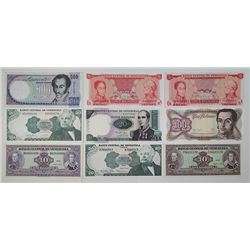 Various Central & South American Issuers. 1930s-1990s. Lot of 36 Issued Notes.