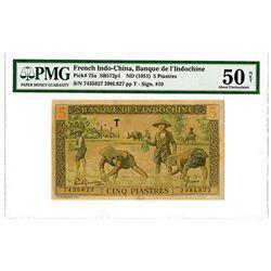 Banque de l'Indochine. ND (1951). Issued Banknote.