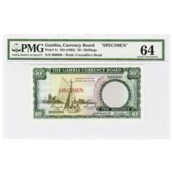 Gambia Currency Board. ND (1965). Specimen Banknote.