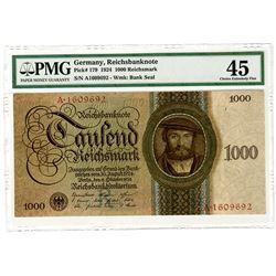 Reichsbanknote. 1924. Issued Banknote.