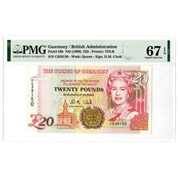 States of Guernsey. ND (1996). Issued Banknote.