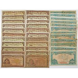 Government of Hong Kong. ND (1941). Lot of 34 Issued Notes.