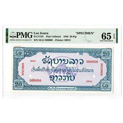 Lao Issara. 1948. Specimen Essay Banknote Rarity.