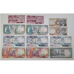 Various African Issuers. 1979-2006. Lot of 21 Issued Notes.