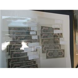 Banco de Mexico. 1936-1961. Lot of 16 Issued Notes.