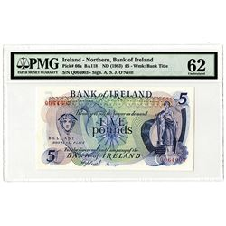 Bank of Ireland - Northern, ND (1983), £5 Issued Banknote.