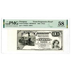 Banco Del Paraguay, 1882 Proof Banknote