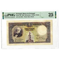Banco de Portugal, 1932, Issued Banknote.