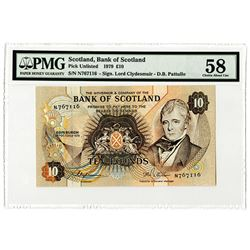 Bank of Scotland, 1979, £10 Issued Banknote.
