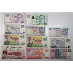 Board of Commissioners of Currency. 1967-1999. Lot of 11 Issued Notes.