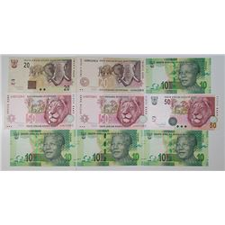South African Reserve Bank. 1955-2009. Lot of 25 Issued Notes.