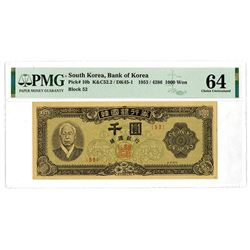 Bank of Korea, 1953 / 4286, Issue Banknote.