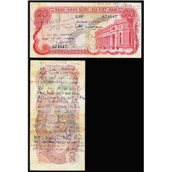 National Bank of Viet Nam August 13, 1973 Short Snorter With South Vietnamese Soldier's Signatures t